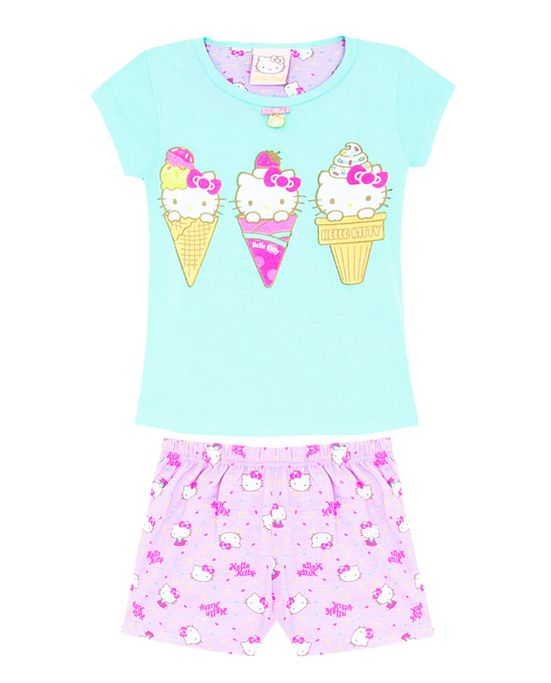 SHORT-DOLL-INFANTIL-HELLO-KITTY-SORVETES