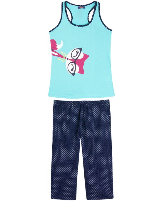 Pijama-Feminino-Puket-Pescador-Gato