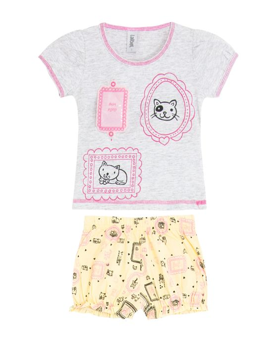 Short-Doll-Infantil-Laibel-Sua-Foto-Gatos