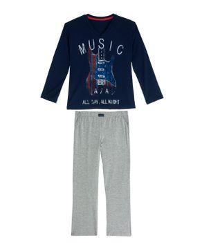 Pijama-Infantil-Masculino-Any-Any-Viscolycra-Guitarra