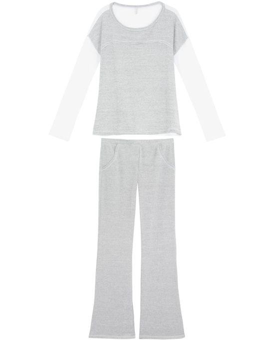 Pijama-Feminino-Joge-Longo-Malha-Mescla
