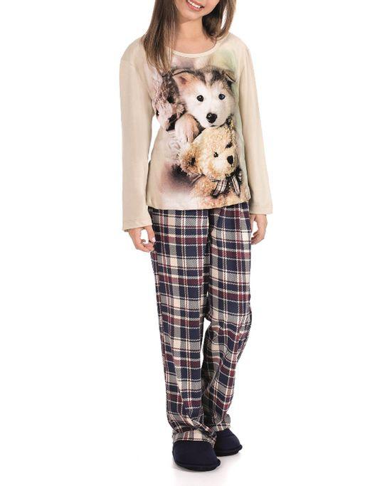 Pijama-Infantil-Feminino-Lua-Encantada-Longo-Malha