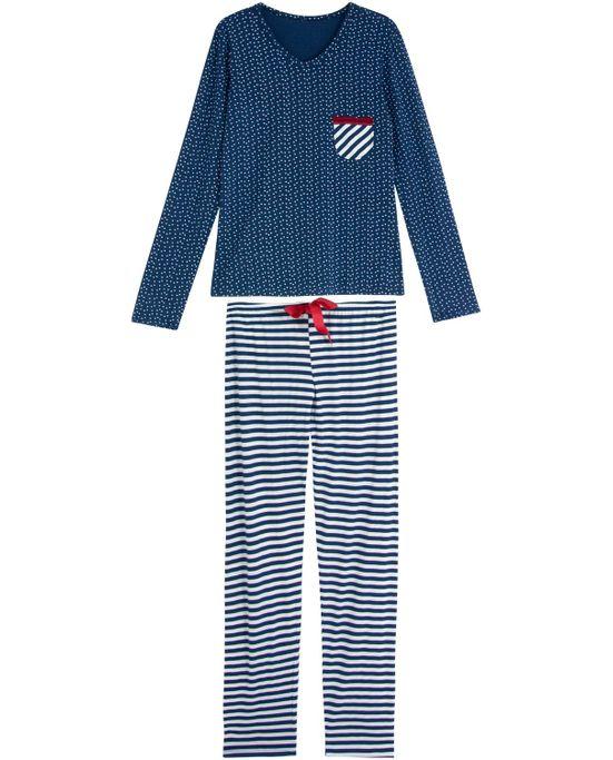 Pijama-Feminino-Recco-Longo-Viscolycra-Star