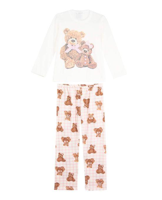 Pijama-Infantil-Feminino-Lua-Cheia-Flanelado-Urso