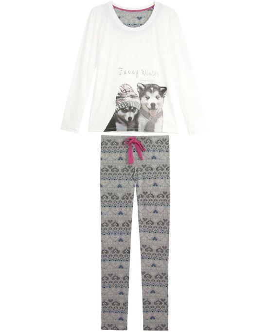 Pijama-Feminino-Any-Any-Longo-Viscolycra-Huscky