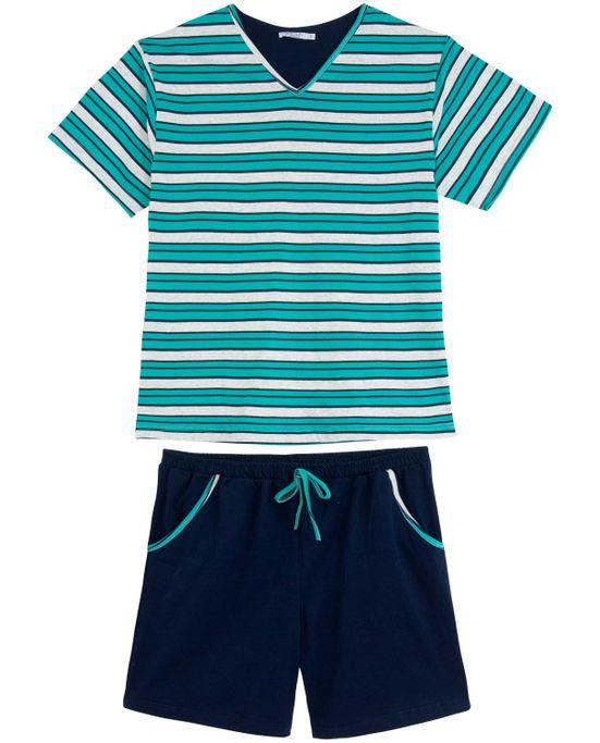 Pijama-Masculino-Podiun-Listras-Short-com-Bolso