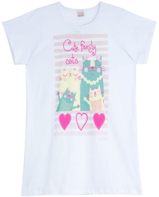 Camisola-Compose-Manga-Curta-Gatos