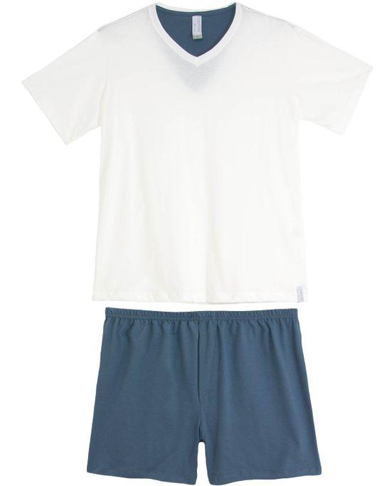 Pijama-Masculino-Compose-Bermuda-Decote-V