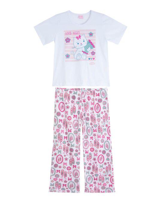 Pijama-Infantil-Feminino-Compose-Longo-Gato