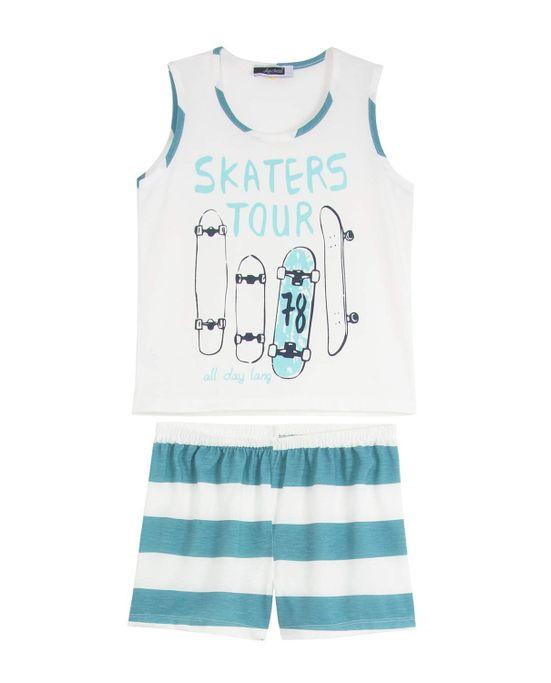 Pijama-Infantil-Masculino-Lua-Cheia-Curto-Skate