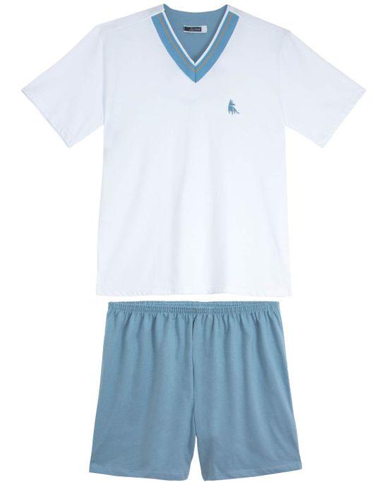 Pijama-Masculino-Lua-Cheia-Decote-V