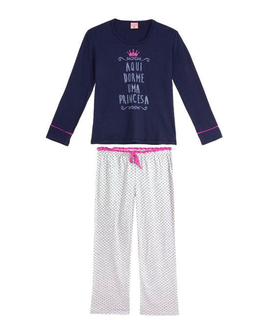 Pijama-Infantil-Feminino-Lua-Encantada-Longo-Princesa