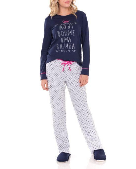 Pijama-Feminino-Lua-Encantada-Longo-Rainha