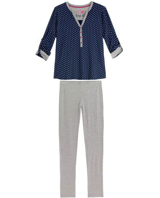 Pijama-Feminino-Any-Any-Longo-Viscolycra-Poa