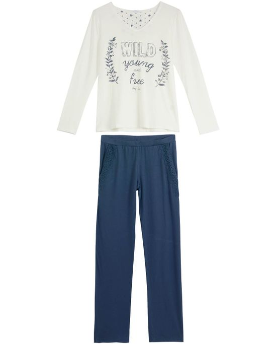 Pijama-Feminino-Any-Any-Longo-Viscolycra-Wild