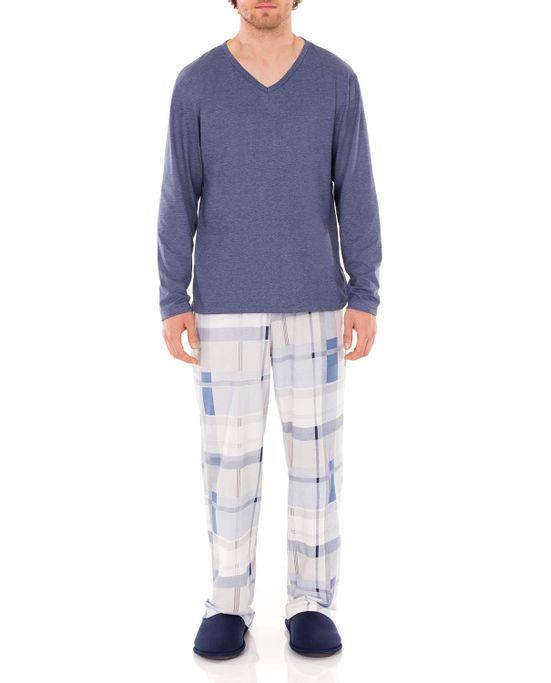 Pijama-Masculino-Lua-Encantada-Longo-Mescla