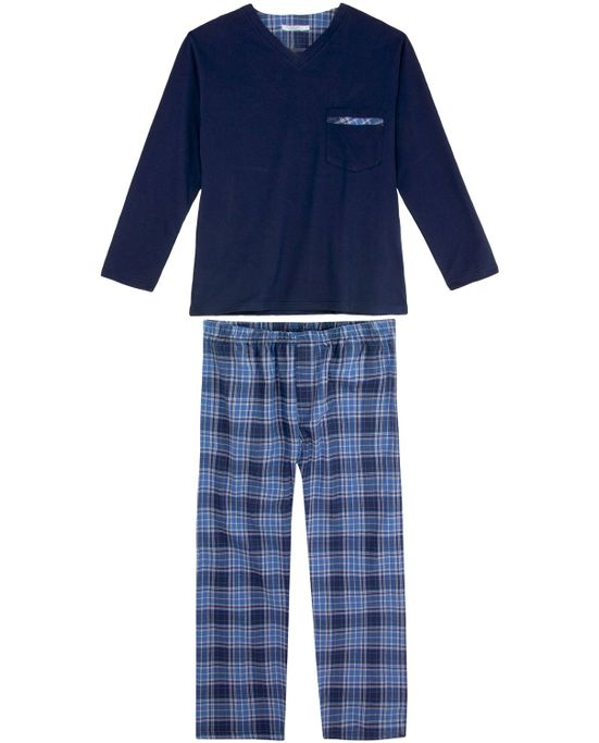 Pijama-Masculino-Podiun-Bolso-Calca-Xadrez