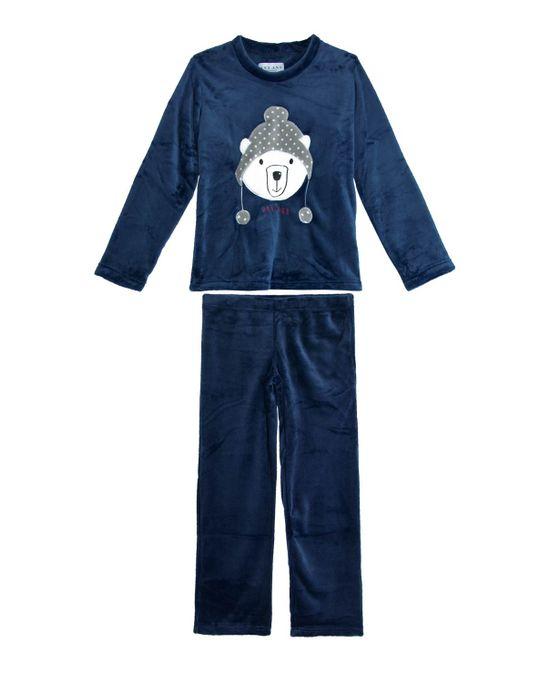 Pijama-Infantil-Any-Any-Longo-Soft-Urso-Polar