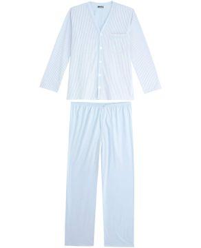 Pijama-Masculino-Lua-Cheia-Longo-Aberto-Listras