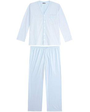 Pijama-Plus-Size-Masculino-Lua-Cheia-Longo-Aberto