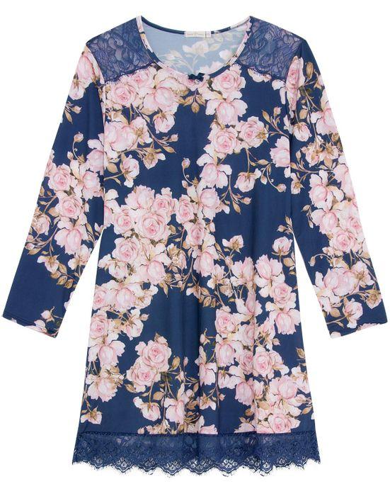 Camisao-Plus-Size-Daniela-Tombini-Microfibra-Floral