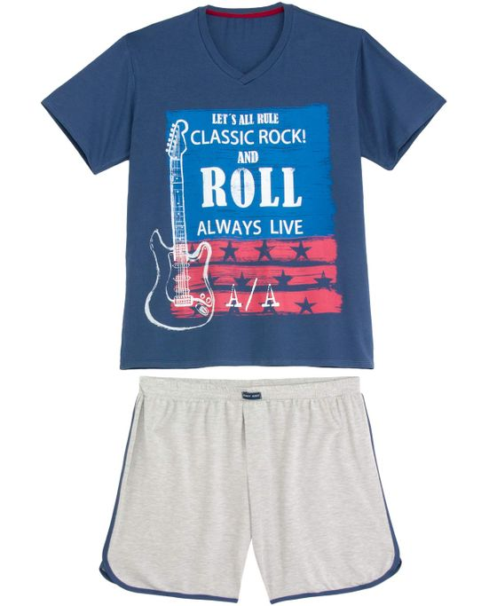 Pijama-Masculino-Any-Any-Longo-Rock-and-Roll
