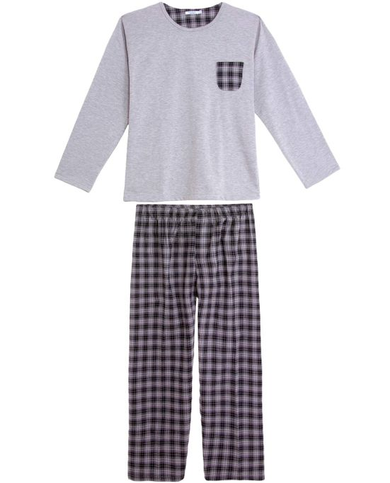 Pijama-Masculino-Podiun-Moletinho-Calca-Flanela