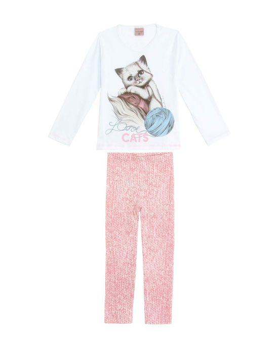 Pijama-Infantil-Feminino-Lua-Encantada-Longo-Gato