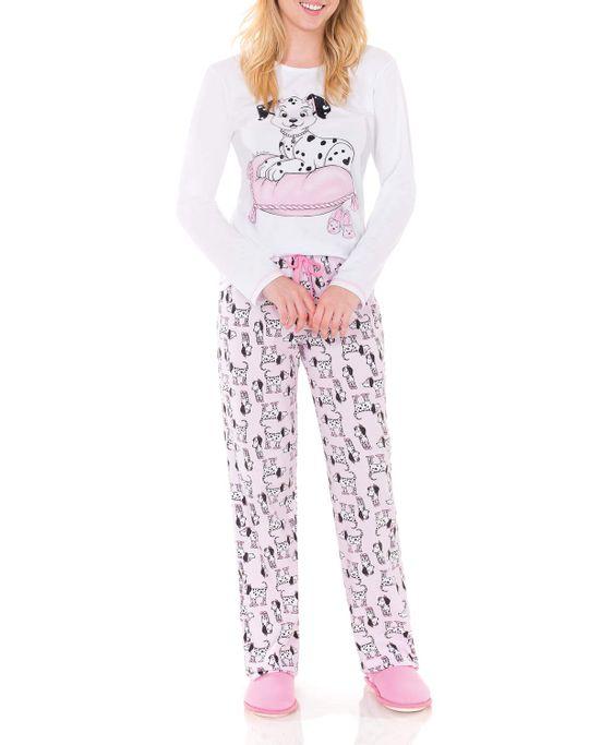 Pijama-Feminino-Lua-Encantada-Longo-Dalmata