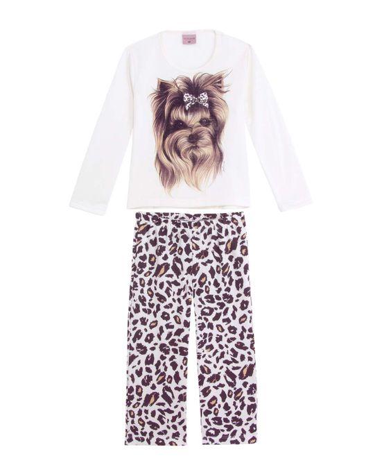Pijama-Infantil-Feminino-Lua-Encantada-Moletinho-York