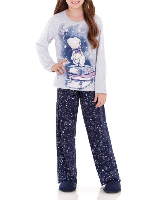 Pijama-Infantil-Feminino-Lua-Encantada-Longo-Urso