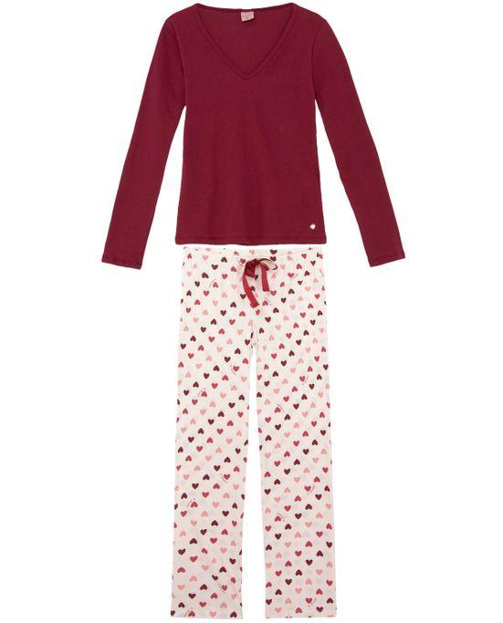 Pijama-Feminino-Lua-Encantada-Canelado-Coracoes