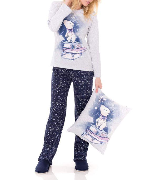 Pijama-Feminino-Lua-Encantada-Longo-Urso
