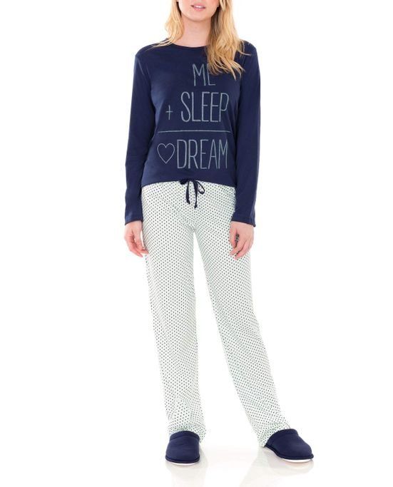 Pijama-Feminino-Lua-Encanta-Longo-Algodao-Calculo