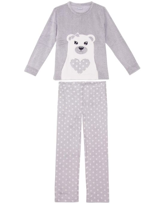 Pijama-Feminino-Lua-Encantada-Longo-Soft-Ursa