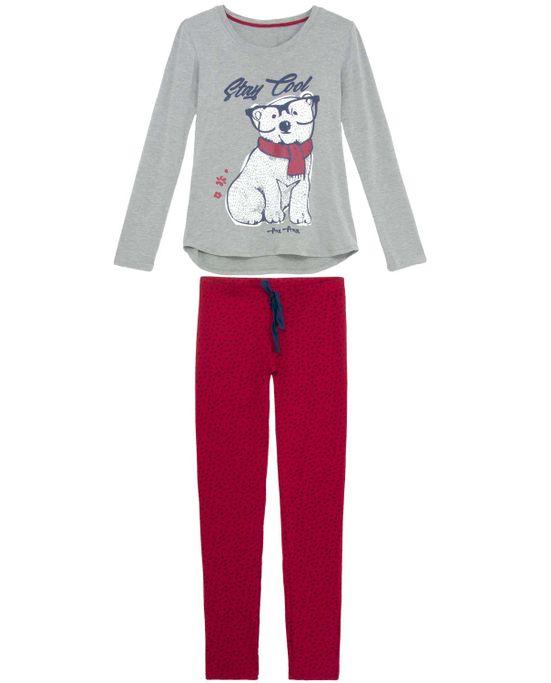 Pijama-Feminino-Any-Any-Longo-Viscolycra-Urso