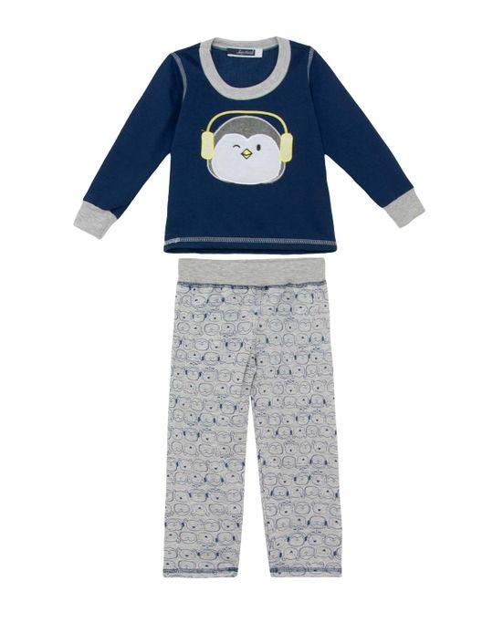 Pijama-Infantil-Lua-Cheia-Longo-Flanelado-Pinguim
