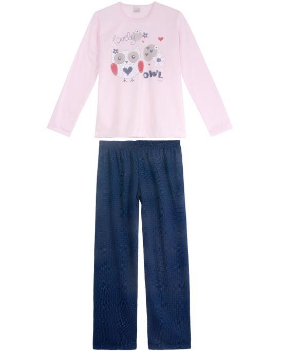 Pijama-Feminino-Compose-Longo-Moletinho-Coruja