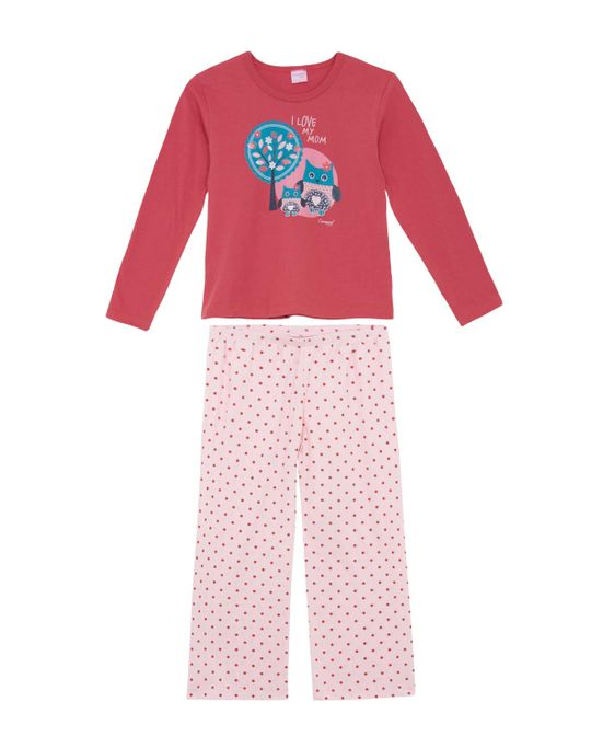 Pijama-Infantil-Feminino-Compose-Longo-Coruja