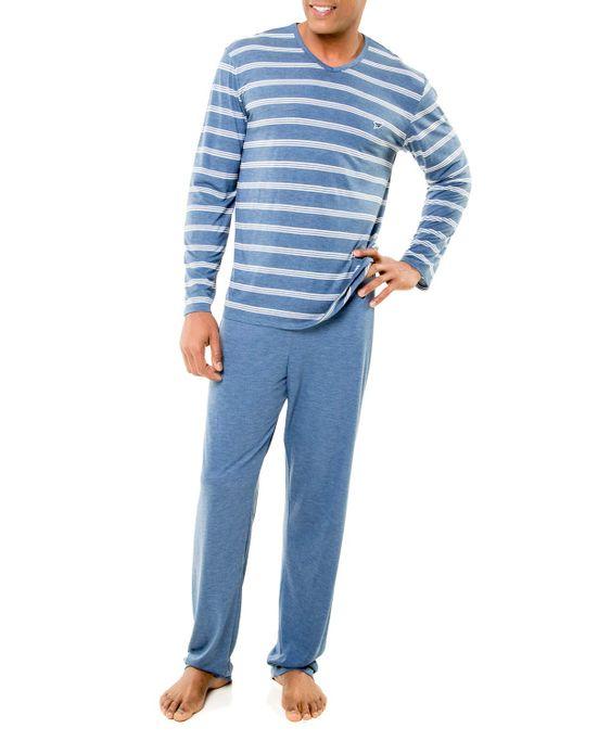 Pijama-Masculino-Recco-Longo-Viscolycra-Listras