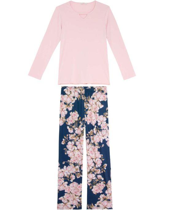 Pijama-Feminino-Daniela-Tombini-Microfibra-Calca-Floral