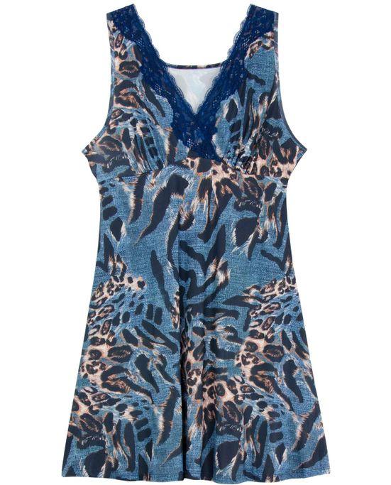 521a179e8562ca Camisola Plus Size Recco Regata Microfibra Renda - Pijama Online