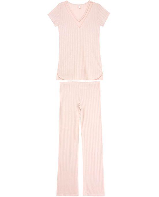 Pijama-Feminino-Joge-Longo-Manga-Curta-Tule