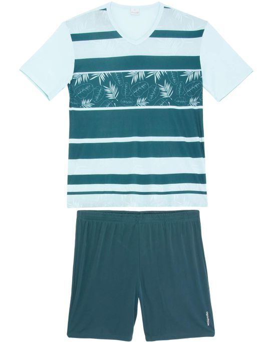 Pijama-Masculino-Recco-Curto-Microfibra-Tropical