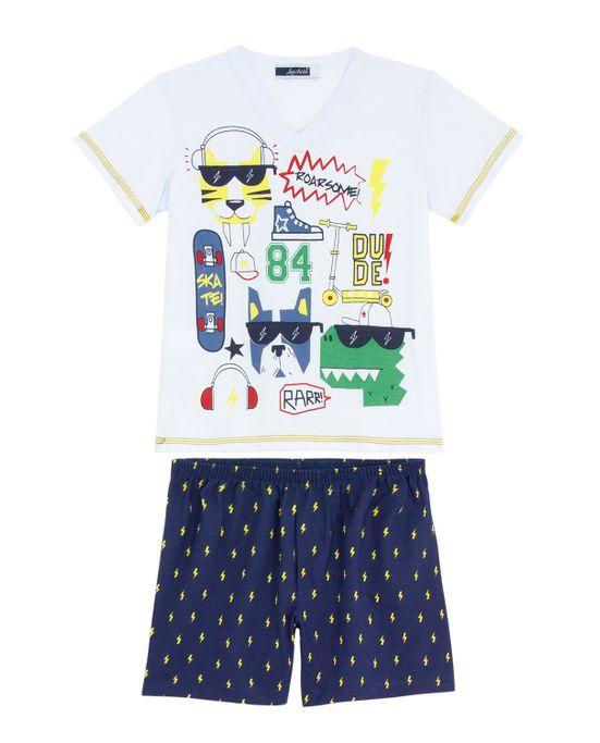 Pijama-Infantil-Masculino-Lua-Cheia-Bermuda-Raios