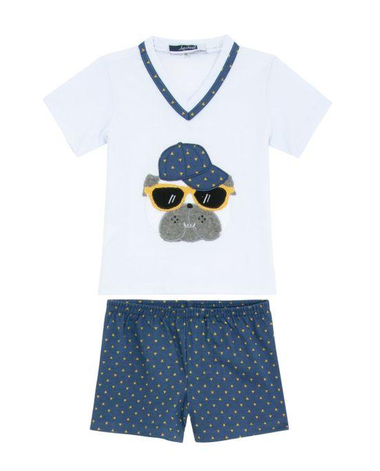 Pijama-Infantil-Masculino-Lua-Cheia-Bermuda-Bulldog