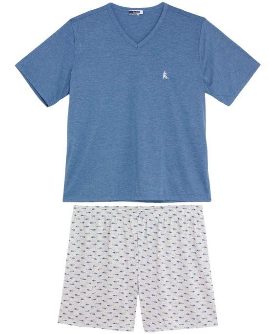 Pijama-Plus-Size-Masculino-Lua-Cheia-Bermuda-Peixe