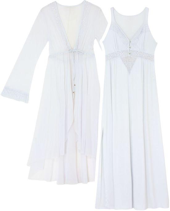 b8f4d6e09 Camisola Gestante com Robe Mensageiro Ribana - Pijama Online