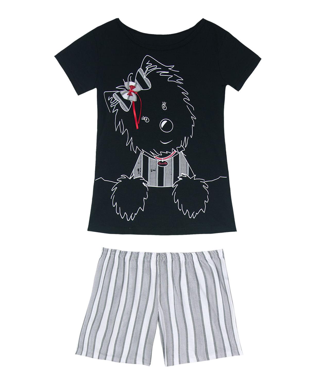 aa317f4fd Short Doll Infantil Recco Manga Curta Cachorro - Preto
