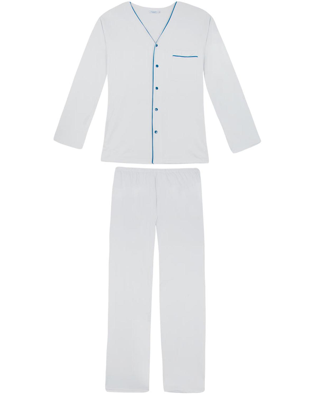 176b5d887 Pijama Masculino Podiun Longo Aberto Bolso